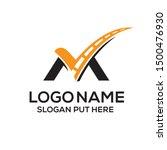 m letter logo identity design... | Shutterstock .eps vector #1500476930