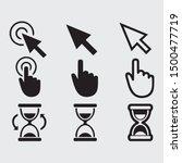 free cursor pointer vector sign ...   Shutterstock .eps vector #1500477719