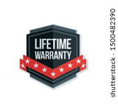 lifetime warranty shield sign...   Shutterstock .eps vector #1500482390