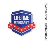 lifetime warranty shield sign... | Shutterstock .eps vector #1500482393