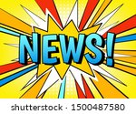 news banner vector template.... | Shutterstock .eps vector #1500487580