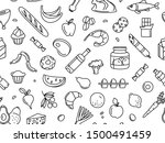supermarket grocery store food  ... | Shutterstock .eps vector #1500491459