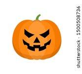 halloween pumpkin icon isolated ... | Shutterstock .eps vector #1500508736