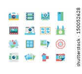 photography icons  | Shutterstock .eps vector #150052628
