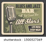 blues and jazz live music ... | Shutterstock .eps vector #1500527369