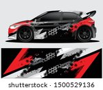 rally car decal graphic wrap... | Shutterstock .eps vector #1500529136