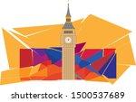 clock tower vector background...   Shutterstock .eps vector #1500537689