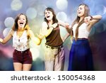 students girls having fun  | Shutterstock . vector #150054368