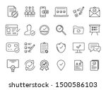 simple set of approved linear... | Shutterstock .eps vector #1500586103