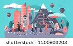 overtourism vector illustration....   Shutterstock .eps vector #1500603203