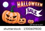 happy halloween sale banners or ... | Shutterstock .eps vector #1500609830