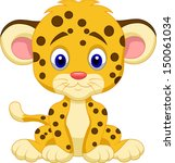 Stock vector cute leopard cartoon 150061034