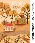 hello autumn hand drawn... | Shutterstock .eps vector #1500614876