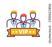 vip club line color icon.... | Shutterstock .eps vector #1500621806