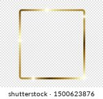 gold shiny glowing frame with... | Shutterstock .eps vector #1500623876