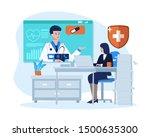 business woman meeting a... | Shutterstock .eps vector #1500635300