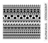 tribal  tattoo maori  pattern... | Shutterstock .eps vector #1500636869