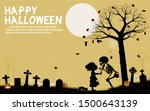 the skeleton is giving a little ... | Shutterstock .eps vector #1500643139