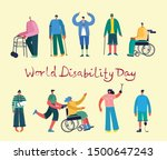 vector background with disabled ... | Shutterstock .eps vector #1500647243