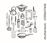 cooking classes and kitchen...   Shutterstock .eps vector #1500647606
