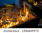 pieces of lamb being grilled in ... | Shutterstock . vector #1500649973