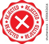 rejected. stamp. red round... | Shutterstock .eps vector #1500652616