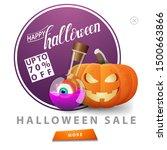 halloween sale  up to 70  off ... | Shutterstock .eps vector #1500663866