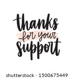 thanks for your support... | Shutterstock .eps vector #1500675449