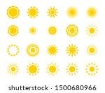 sun silhouette icon set. summer ... | Shutterstock .eps vector #1500680966