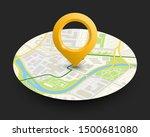 isometric round city map...   Shutterstock . vector #1500681080