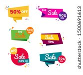 colorful sales badges and tags... | Shutterstock .eps vector #1500691613