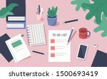 to do list with check marks.... | Shutterstock .eps vector #1500693419