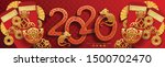 happy chinese new year 2020... | Shutterstock .eps vector #1500702470