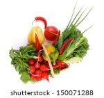 vegetable basket with radish ...