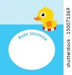 duck baby shower | Shutterstock .eps vector #150071369