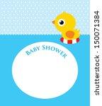 duck baby shower   Shutterstock .eps vector #150071384