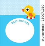 duck baby shower | Shutterstock .eps vector #150071390