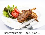 grilled lamb chops  with... | Shutterstock . vector #150075230