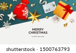 merry christmas banner with... | Shutterstock .eps vector #1500763793