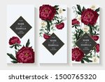 wedding invitation with...   Shutterstock .eps vector #1500765320