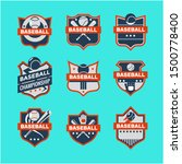 modern baseball badge logo... | Shutterstock .eps vector #1500778400