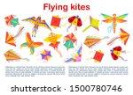 Flying Kites In Shape Of...