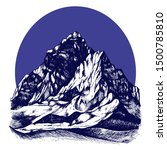 mountains shapes in the round...   Shutterstock .eps vector #1500785810