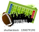 cheering crowd in football game | Shutterstock .eps vector #150079190