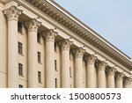 Classic Greek Columns On The...