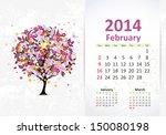 calendar for 2014  february | Shutterstock .eps vector #150080198