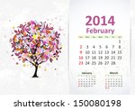 Calendar For 2014  February