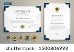 blue and gold certificate of... | Shutterstock .eps vector #1500806993
