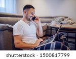 happy caucasian businessman in...   Shutterstock . vector #1500817799