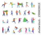 set of people family characters ... | Shutterstock .eps vector #1500820013